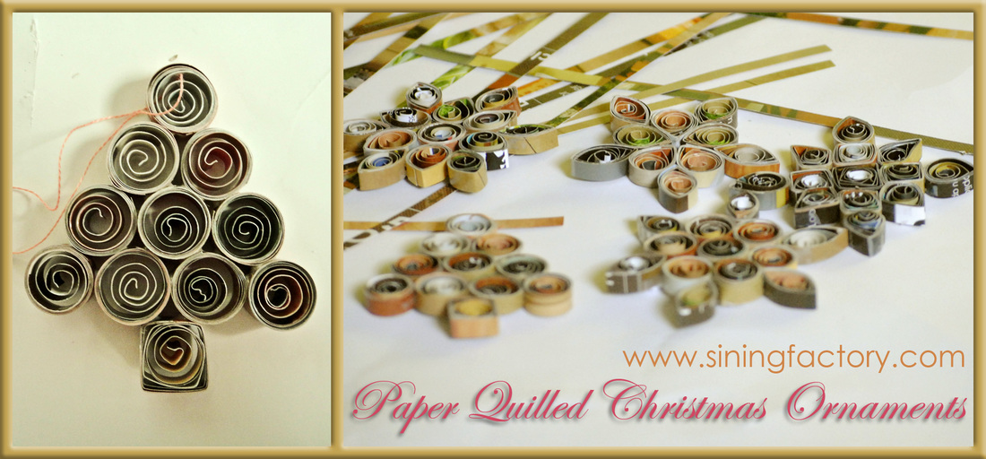 How to make a recycled christmas decor paper quilled Christmas tree ideas using recycled materials